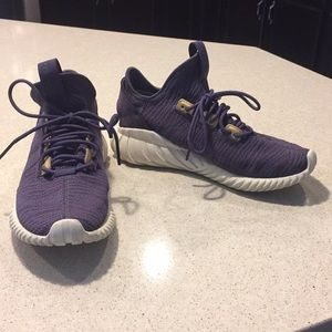 Adidas women's purple gym shoes